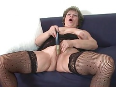 Granny cunt is gorgeous with a toy inside it tubes