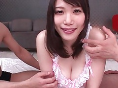 Big tits japanese cutie likes guys rubbing her tubes