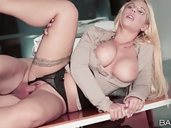 Great office fuck bent over a conference table tubes