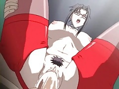 Anime babe in red stockings filled by a big cock tubes