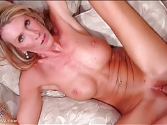 Big mature titties showered in his hot cum tubes