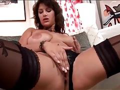 Babe with big naturals masturbates solo tubes