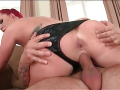 Leather panties are sexy on a curvy cock rider tubes