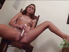 Cute looking riley reid fucks her box with a dildo tubes