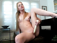 Avril hall looks amazing masturbating with a dildo tubes