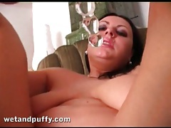 Swollen pussy looks sexy in extreme close up tubes