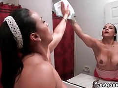 His maid has amazing curves and he films her hot ass tubes