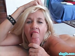 Cute blonde milf loves hot pussy pounding tubes