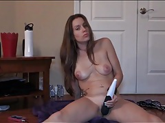Lelu love uses a toy to stimulate her hot cunt tubes