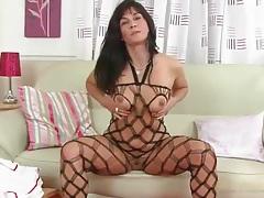 Super sexy nurse lingerie on a pretty mature model tubes