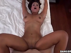 Big booty babe in his bed wants it from behind tubes