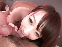 Pretty eyes on a cocksucking japanese girl tubes