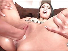 He loosens her latina pussy and fist fucks her tubes