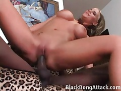 Hot cunt of phoenix marie filled with black dick tubes