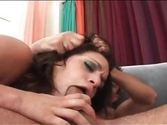 Anal whore sucks dicks as she rides tubes