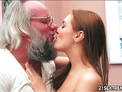 Sweet young lady loves grandpa cock tubes