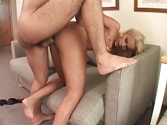 Ass up anal sex with a naughty blonde whore tubes