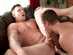 Big twink cock slowly pushes into his tight ass tubes