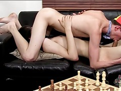 Ass eating and pounding with three twink hotties tubes