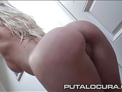 Hot blonde blows an ugly man with lust tubes