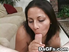 Pov titjob and lusty ball sucking from a latina tubes
