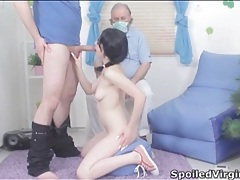 Sweet virgin gives head and gets fucked lustily tubes