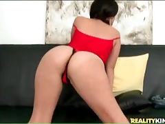 Latina first timer wants to show off her crotchless panties tubes