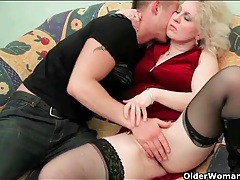 Leather boots are hot as hell on a mature slut tubes
