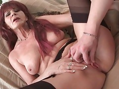 Cocksucking grandma makes the young guy horny tubes