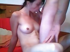 Teen amateur cocksucker takes cum on her tits tubes