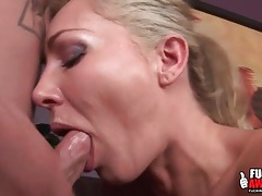 Milf can take a dick deep in her throat tubes
