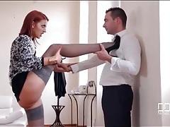 Stockings and heels hottie seduces him tubes