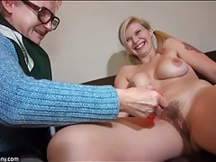 Grandma prefers a young lesbian with curves tubes