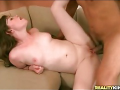 Pale skin cutie is a great lay for his big dick tubes