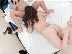 Lesbian in a thong does down on a hot cunt tubes