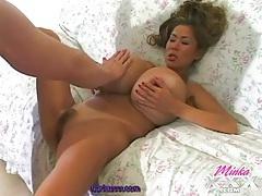 Horny minka sucks cock and gives a titjob tubes