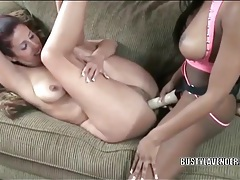 Interracial lesbian strapon sex with cute amateurs tubes
