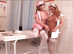 Nurses take a break from work to eat pussy tubes