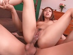 Smoking hot asian sucks and sits on dicks tubes