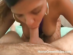 Luscious latina mouth sucks his cock passionately tubes