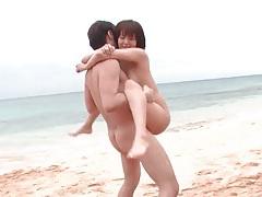 Hot sex on a gorgeous beach tubes