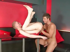 Hunk dick sucked and hot asshole rimmed tubes