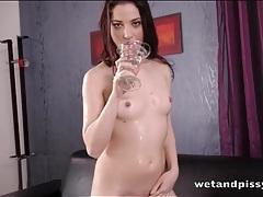 Super sweet looking girl loves pissing fetish fun tubes