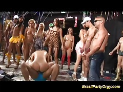 Wild dp at brazilian party tubes