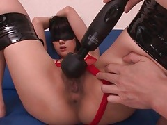 Japanese beauty in bondage is his plaything tubes