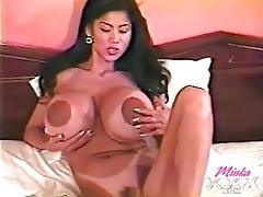 Minka has a stunning set of big fake breasts tubes