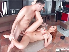 Dumping his thick cum inside a slutty redhead tubes