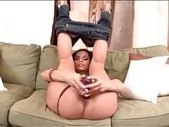 Big ass eve angel has fun with her dildo tubes