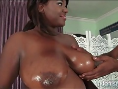 Black fatty down on her knees to suck a cock tubes