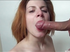 His thick cumshot nearly covers her eye tubes